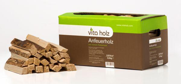 Packung: 3,6kg Anmachholz Fichte im handlichen Karton