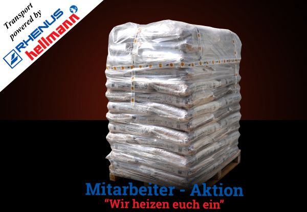 "Palette: 960kg Pellets ENplusA1 Marke ""Barlinek"" 6mm - Transport powered by Rhenus"