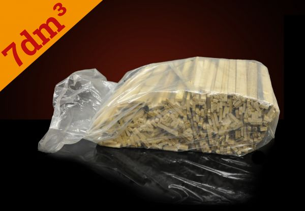 Packung: 7dm³ feines Anmachholz im Beutel ab Lager