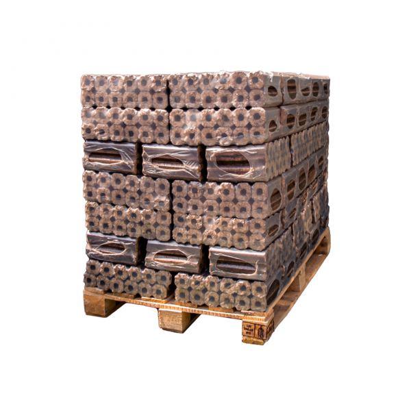 Gluthalter Pini&Kay-Holzbriketts Hartholz Palette: 380 kg inkl. bundesweiter Lieferung