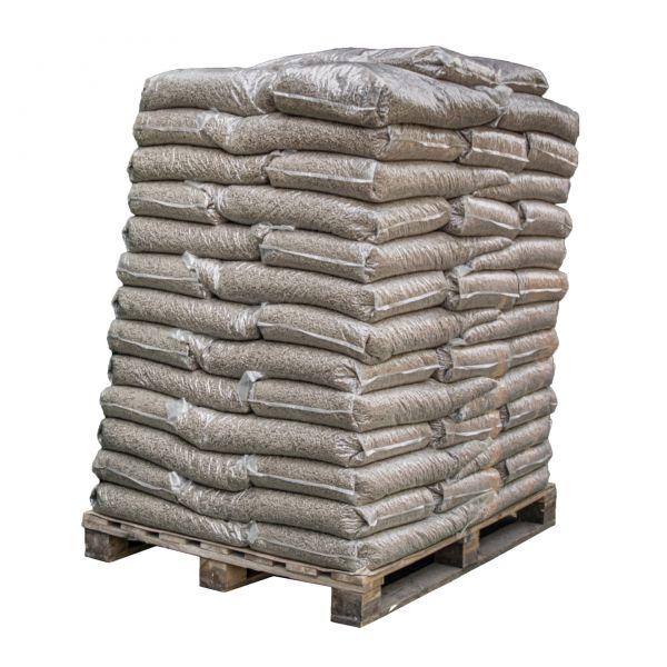 Eichen-Pellets 960 kg Palette   zum Räuchern, Smokern & Grillen inkl. Versand