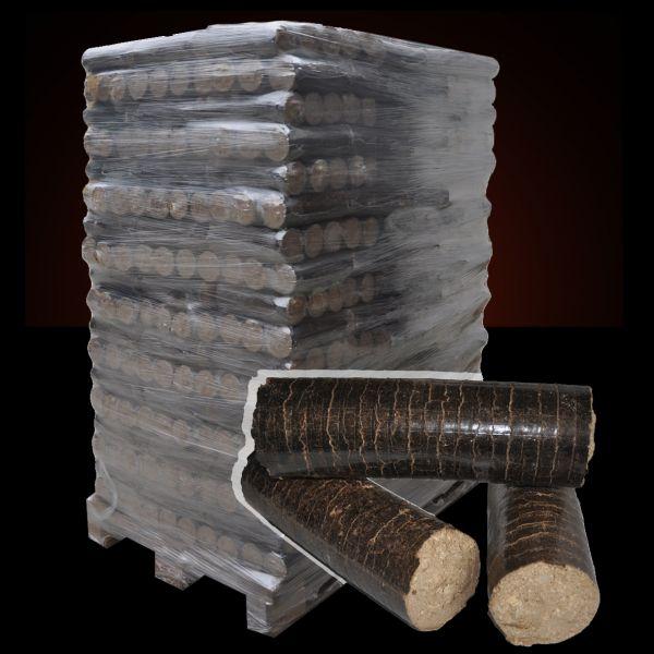 Palette: 972kg runde Hartholz-Briketts Hartholz in 6kg-Packungen inkl. bundesw. Lieferung