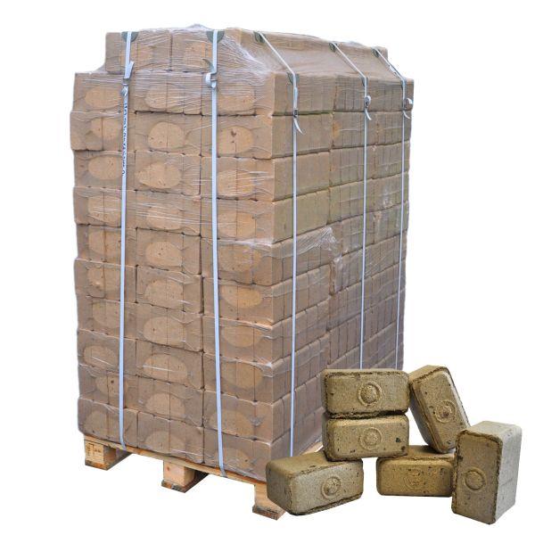 Palette: 960kg Würfel-Holzbrikett Hartholz klein inkl. bundesweiter Lieferung