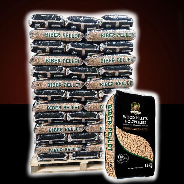 "Nadelholz Pellets - Marke ""Biber"" | 960 kg Palette | ENplusA1 zertifiziert | inkl. Versand"