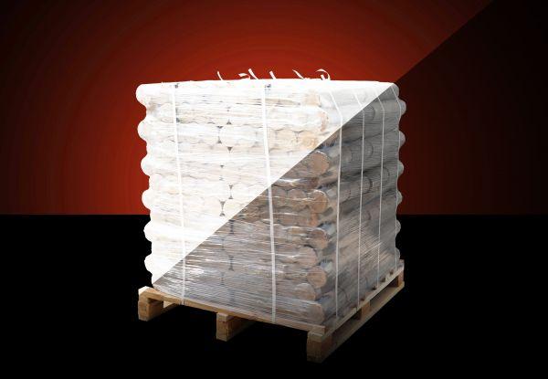 Runde Buchen Briketts XXL Palette: 380 kg inkl. bundesweiter Lieferung