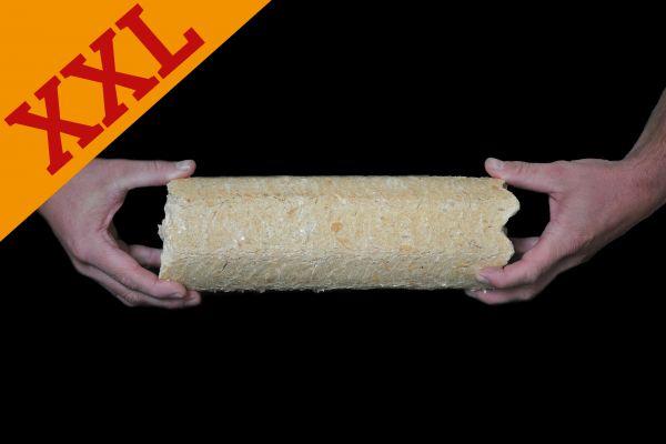 Packung: 10kg runde Nadelholz-Briketts XXL ab Lager