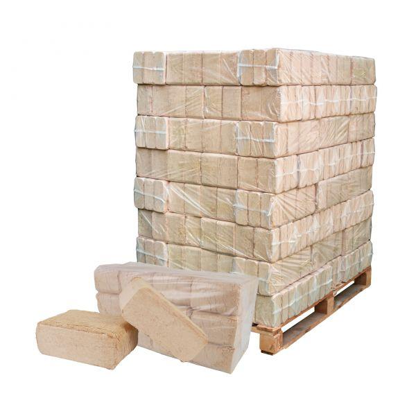 Holzbriketts auf 960 kg Palette: Würfel Hartholz-Mix aus Buche, Eiche und Co. | inkl. Versand