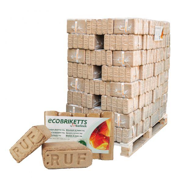 Holzbriketts Buche Premium: 960 kg Palette Würfelbriketts | Marke Barlinek | inkl. Versand