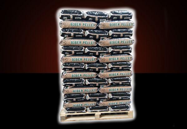 "Palette: 960kg Pellets ENplusA1 Marke ""Biber"" 6mm inkl. bundesweitem Versand"