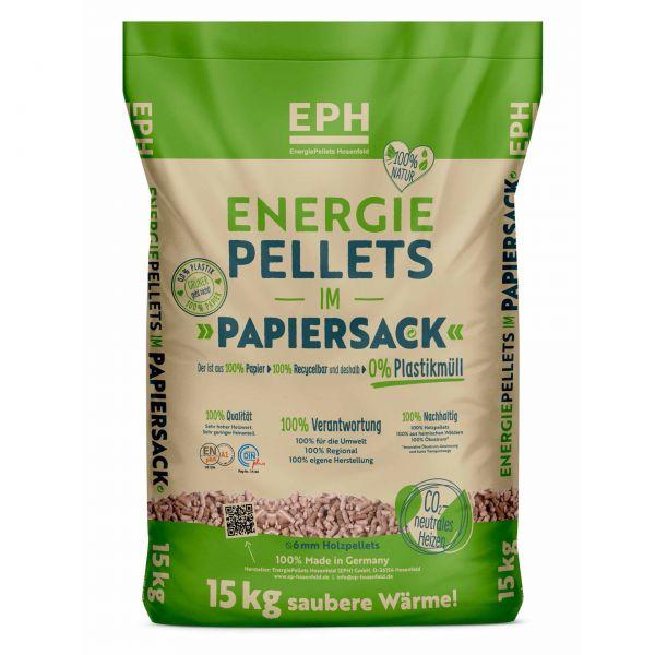 """Im Papiersack! 15kg Gratis + 960kg Nadelholz Pellets - Marke """"EPH""""   975 kg Palette   inkl. Versand-"""