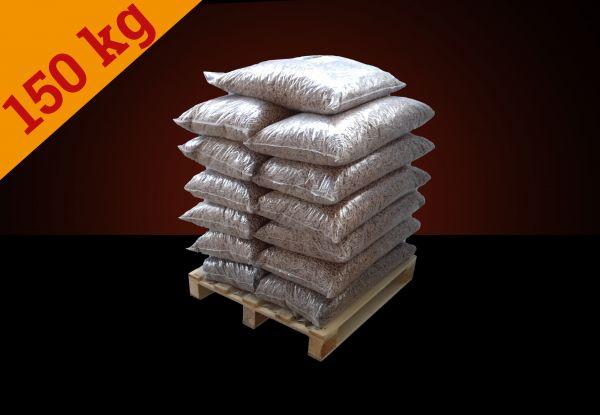 150kg Buchen-Pellets auf Halbpalette inkl. Versand - entspricht 11,90€/15kg