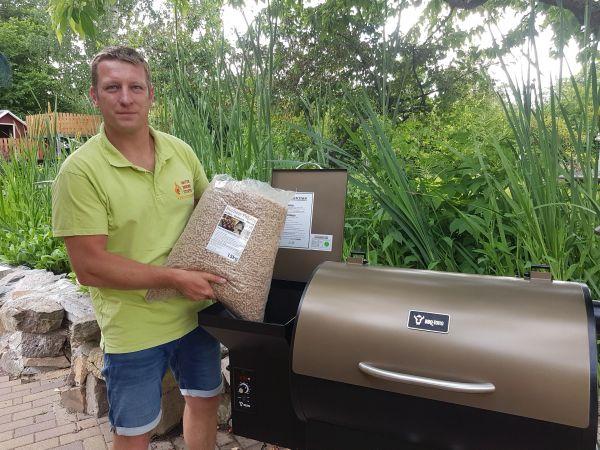BBQ-Toro Pellet Smoker Grill PG1 | Schwarz - Gold | Pelletgrill inkl. Versand!