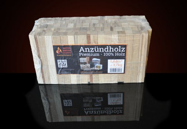 Packung: 3,7kg Premium-Anmachholz ab Lager