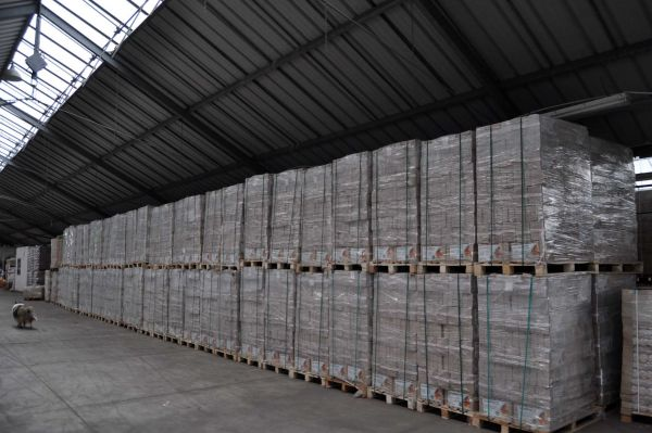 RESTPOSTEN! Palette: 960kg Würfel-Holzbrikett MIX Nadelholz-Hartholz ab Lager - Aktin bis 30.4.21