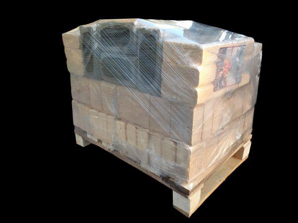 Holzbriketts auf 190 kg Halbpalette Wunsch-Zusammenstellung zum Testen